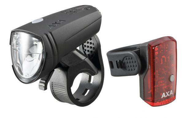 AXA LED-Akku Fahrrad Beleuchtungsset Green Line 15