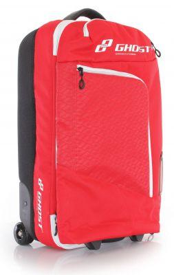 GHOST Bikes Travel Bag Trolley Reisetasche Gepäcktasche 40+5L rot für Reisen